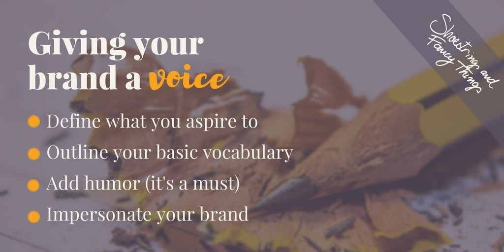Giving your brand a voice
